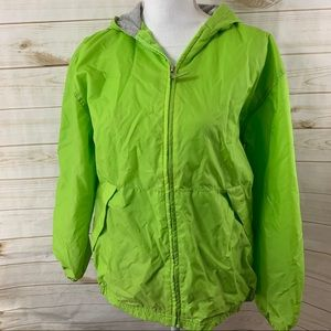 Andy Johns Lime Green Zip up Jacket Packable